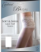 Couture - Collants satinés et à dentelles pour mariée (1 paire) - Femme
