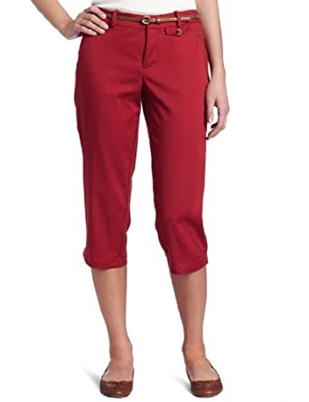Dockers Women's The Capri Pant with Hello Smooth, Garnet, 10