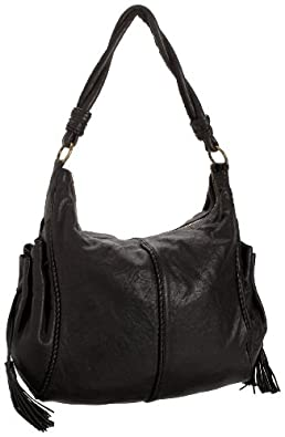 HOBO INTERNATIONAL Trinity Hobo Ziptop Bag,Black,one size