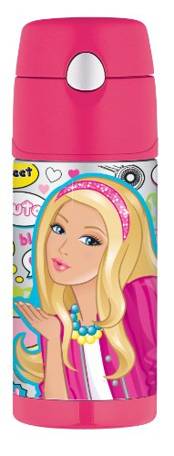 Thermos Funtainer Bottle, 12-Ounce, Barbie front-895786