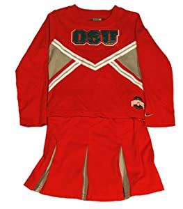 Ohio State Buckeyes Nike Girls 4-6X Cheer Dress by Nike
