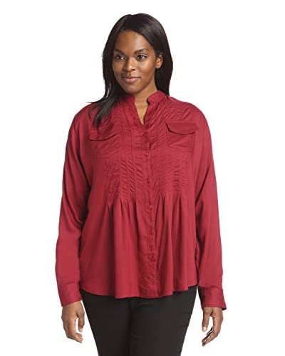 James & Erin Plus Women's Pocket Pleated Tunic