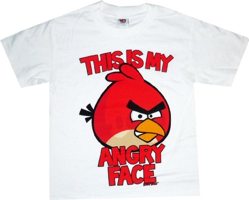 Angry Birds: Red Bird &#8220;This is My Angry Face&#8221; Youth T Shirt
