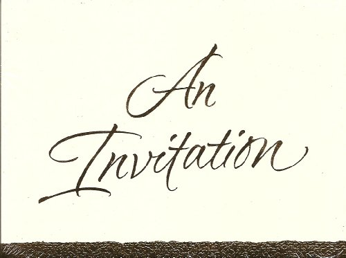 An Invitation Copper Bronze Ink 10 Count With Envelopes Elegant Shower Birthday Etc