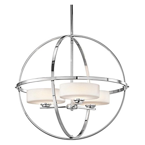 Inspirational Good Review u Cheap Product Kichler Lighting CH Olsay Light Chandelier Chrome Finish with Satin Etched Cased Opal Glass