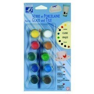 Vernice opaca in 10 colori per vetro e piastrelle lefranc - Vernice per piastrelle ceramica ...