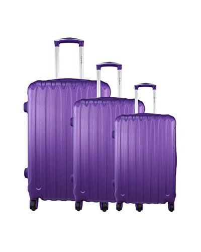 zifel Set de 3 trolleys rígidos Azul