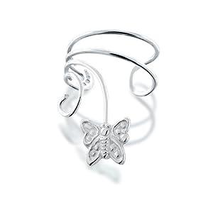 Bling Jewelry Butterfly Ear Cuff Left Ear 925 Sterling Silver