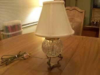 Lead Crystal Vintage Desk Lamp