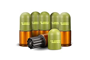 ICS MA-158 40mm Airsoft Plastic Gas Grenades, fit most Grenade Launcher Set of 6
