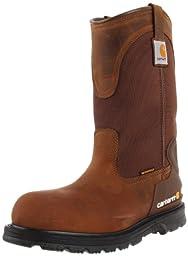 Carhartt Men\'s CMP1200 11 Well ST Work Boot,Bison Brown,9 M US
