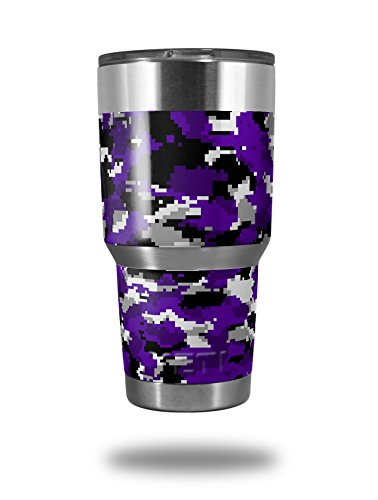 WraptorCamo Digital Camo Purple - Decal Style Skin Wrap fits Yeti Rambler and Walmart Ozark Trail 30oz Tumblers (TUMBLER NOT INCLUDED) (Camo Wrap For Yeti Cooler compare prices)