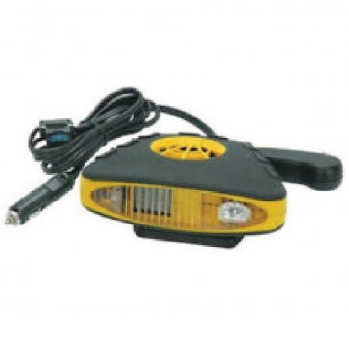12 Volt Rubberized Electric Car Heater & Defroster with Fan (Electric Car Heater Defroster compare prices)