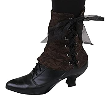 Ladies Victorian Boots & Shoes Reversible Velvet Spats $31.95 AT vintagedancer.com