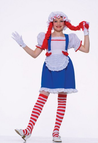 Raggedy Ann Rag Doll Kids Halloween Costume size Large 12-14