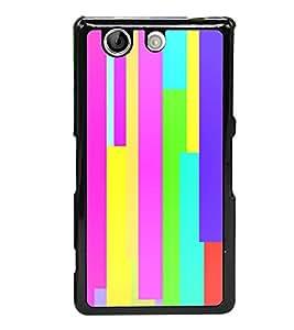 Multicolour Pattern 2D Hard Polycarbonate Designer Back Case Cover for Sony Xperia Z4 Compact :: Sony Xperia Z4 Mini