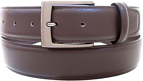 """Belt By Ardente, Black, Brown, Gunmetal Buckle, 35mm (1-3/8 Inches Wide) - Style 3601 Brown 56"""""""