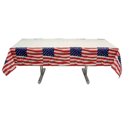 "Online Stores, Inc. Patriotic Tablecloths Flying Colors 54""x102"""