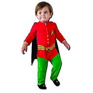 Robin DC Comics Superhero Baby Romper Costume