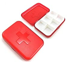 buy Set Of 2 6 Compartment Cross-Shaped Portable Pill Boxes