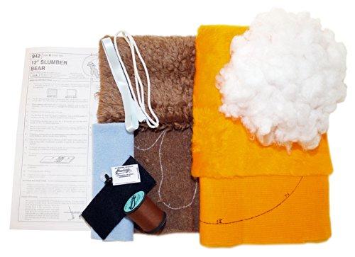 Haan Crafts Toy Slumber Bear Stuffed Animal Beginner/Kids Sewing Kit