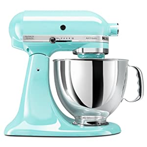 Kitchenaid ksm150psic artisan 5 quart stand mixer ice blue home kitchen - Kitchenaid mixer bayleaf ...