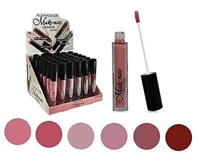Set of 6 Colors Madly MATTE Lipgloss Bold & Vivid Color Matte Lipgloss Set #1