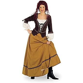 servant peasant womens costume skirt top