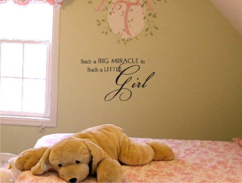 Such A Big Miracle In Such A Little Girl Vinyl Wall Art Inspirational Quotes And Saying Home Decor Decal Sticker front-612549