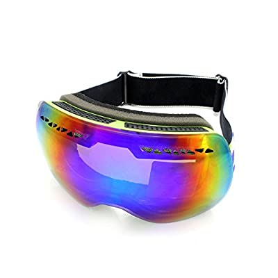 Supertrip High Quality Professional Ski Goggles Double Lens Anti-fog Big Spherical Skiing Unisex Multicolor Snow Goggles