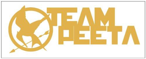 Hunger Games Team Peeta Design 2 Sticker Decal. Metallic Gold