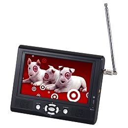 target digital prism 7 inch portable lcd tv w hd tuner. Black Bedroom Furniture Sets. Home Design Ideas