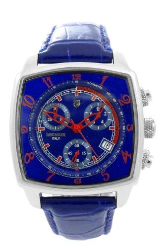 Lancaster Unico Medium - Reloj unisex de cuarzo, correa de piel color azul claro