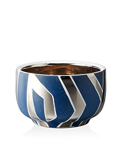 Waylande Gregory Zebra XS Chubby Bowl, Blue/Platinum