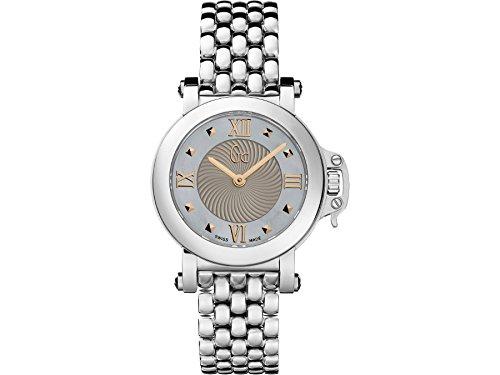 Guess X52002L1S - Reloj para mujeres, correa de acero inoxidable color plateado