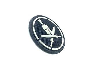Sparta épée Noir PVC Airsoft Velcro Patch