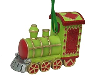 "3.75"" Holiday Cheer Train Engine Christmas Ornament"