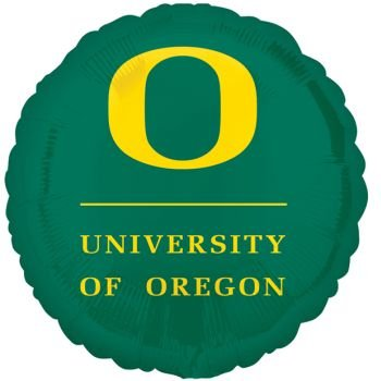 "University of Oregon 17"" College Mylar Balloon"