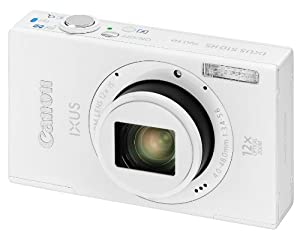 Canon IXUS 510 HS Digital Camera - White (10.1 MP, 12x Optical Zoom) 3.2 Inch LCD