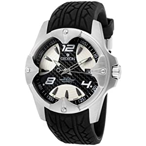 Mens Croton Rubber Automatic Date Watch