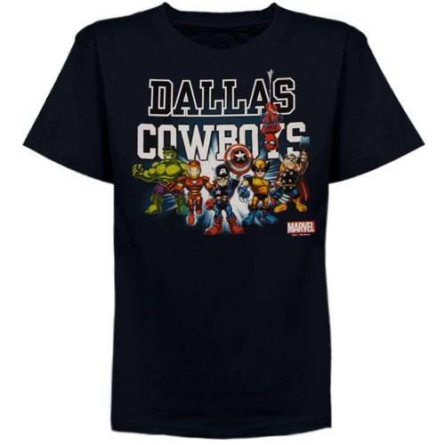 Dallas Cowboys Boys (4-7) Marvel Comics Tiny Coaches T-Shirt Kids 4 Small
