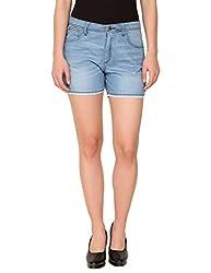 Alibi Women's Shorts(ALBR000094A_28_Blue_28)