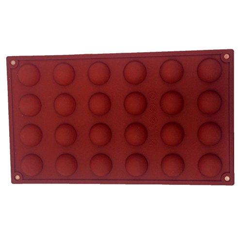 24 Semi Sphère demi-ronde moule flexible en silicone chocolat bonbon gâteau truffe mini-gâteau de thé sucette