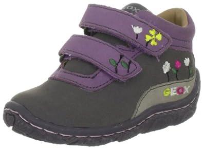 Geox Baby Lolly B2434V00032C8377, Mädchen Lauflernschuhe, Grau (cyclamen/dk violet C8377), EU 20