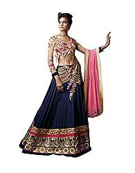 Indian styles blue,georgette lehenga