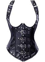 Dissa® Vogue Aciers Côtes Ceinture corset de boucle,Noir