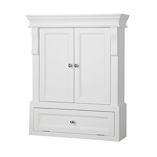 "Why Choose Foremost NAWO2633 Naples 26-1/2"" Bathroom Wall Cabinet, White"