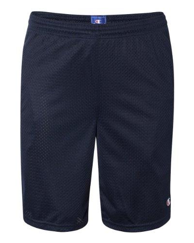 Champion Men's Long Mesh Short With Pockets,Navy,MEDIUM Shorts