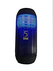 BLAU FUNF Disco Portable Wireless Bluetooth Speaker with LED Lights, for parties. For iPhone, Samsung, Lava, Micromax and all Smart Phones with Bluetooth Carbon Black