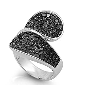 prices sterling silver ring with cubic zirconia glitzs